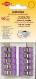 Kleiber Nähclips 10 Stück violett